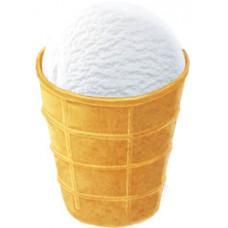 Морозиво пломбір белая бяроза у вафельному стакані