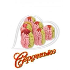Морозиво торт серденько персик-полуниця 400г