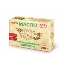 Масло солодковершкове домашнє 70% 200г