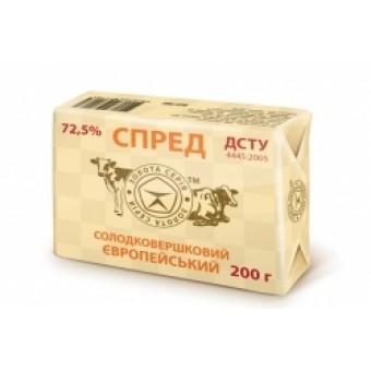СПРЕД ЄВРОПЕЙСЬКИЙ 72,5% 200г